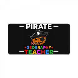 pirate teacher funny halloween gift for geography teacher License Plate | Artistshot