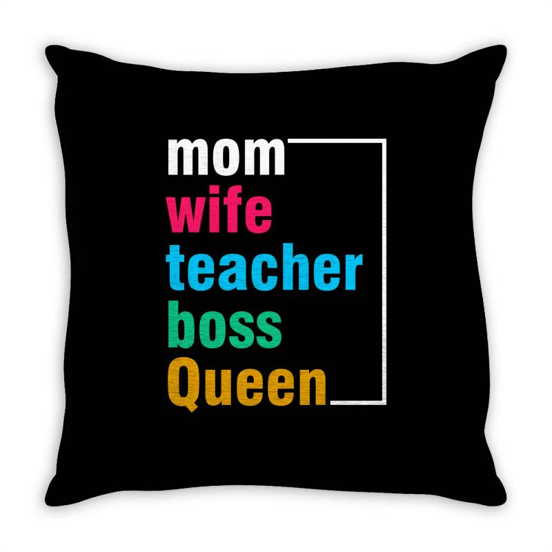Mom Mother Mom Mommy Mama Quote Slogan T Shirt Design Throw Pillow | Artistshot