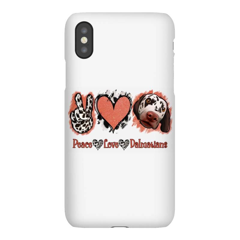 Peace Love Dalmatians Iphonex Case | Artistshot