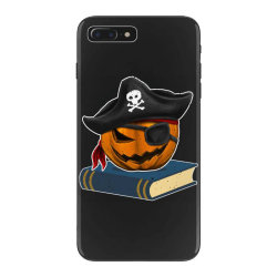 pirate pumpkin book reader gifts women men kids halloween iPhone 7 Plus Case | Artistshot