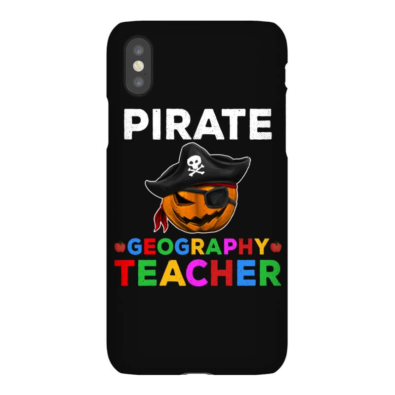 Pirate Teacher Funny Halloween Gift For Geography Teacher Iphonex Case   Artistshot