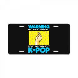 pop music lover korean idol License Plate   Artistshot