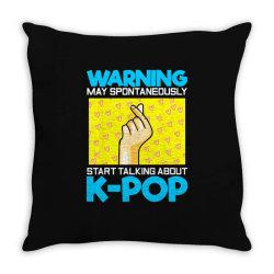 pop music lover korean idol Throw Pillow   Artistshot