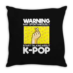 music lover korean Throw Pillow | Artistshot