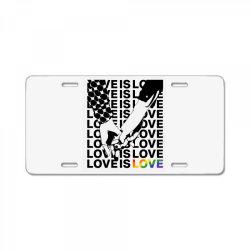 love is love License Plate   Artistshot