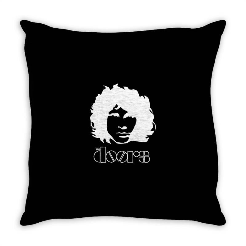 The Doors Jim Morrison Band Throw Pillow   Artistshot
