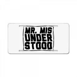 mr misunderstood License Plate   Artistshot
