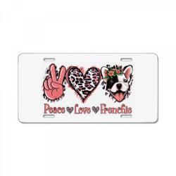 Peace Love French Bulldog License Plate | Artistshot