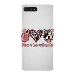 Peace Love French Bulldog iPhone 7 Plus Case | Artistshot