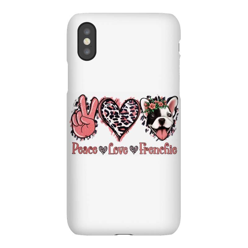 Peace Love French Bulldog Iphonex Case | Artistshot