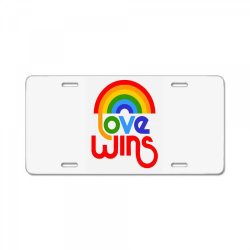 love wins classic License Plate | Artistshot