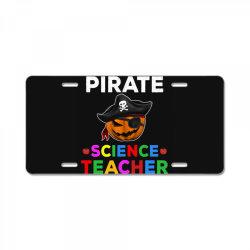 pirate teacher funny halloween gift for science teacher License Plate | Artistshot