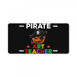 pirate teacher funny halloween party gift for art teacher License Plate   Artistshot