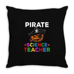 pirate teacher funny halloween gift for science teacher Throw Pillow | Artistshot