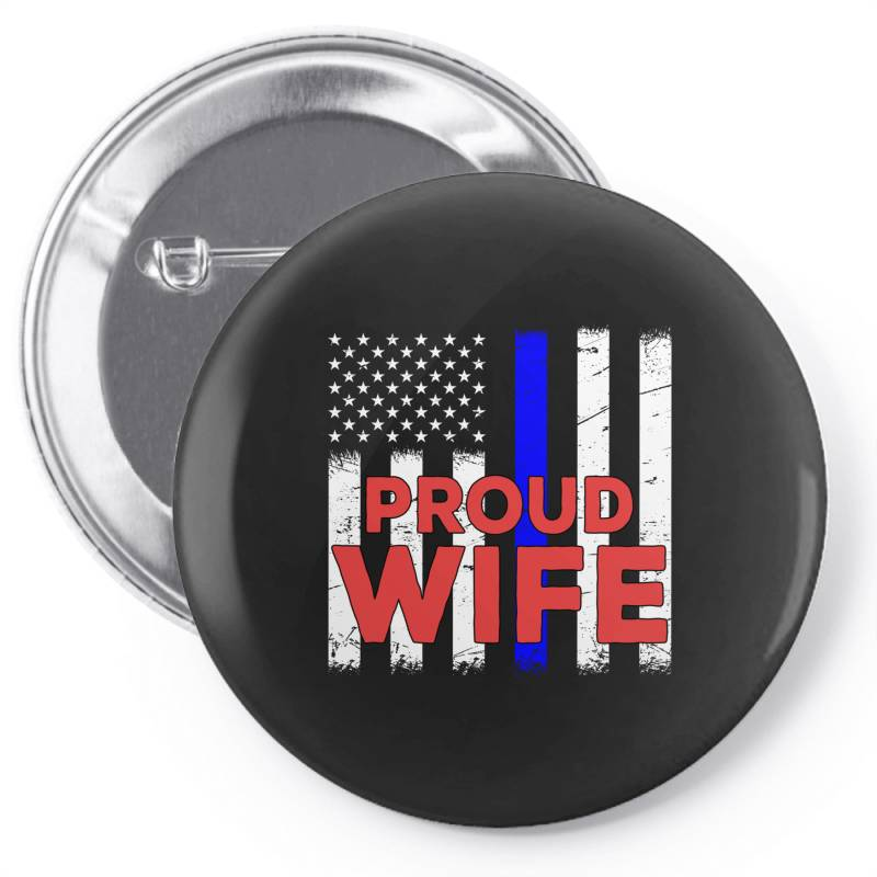 Police Officer Proud Wife Vintage Birthday Pin-back Button | Artistshot