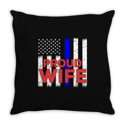 police officer proud wife vintage birthday Throw Pillow | Artistshot