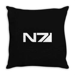 mass effect n7 Throw Pillow   Artistshot