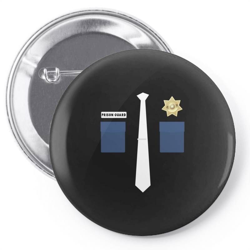 Prison Guard Correctional Officer Costume Halloween Pin-back Button | Artistshot