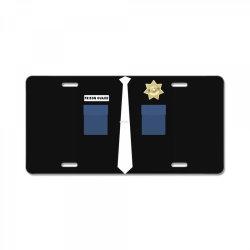 prison guard correctional officer costume halloween License Plate | Artistshot