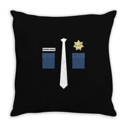 prison guard correctional officer costume halloween Throw Pillow | Artistshot