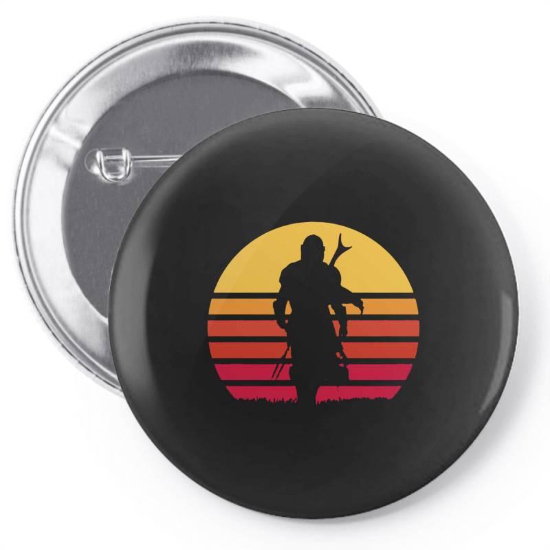 Mando Retro Pin-back Button   Artistshot