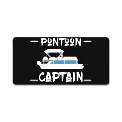pontoon captain shirt pontoon boat lake sailing lover License Plate   Artistshot