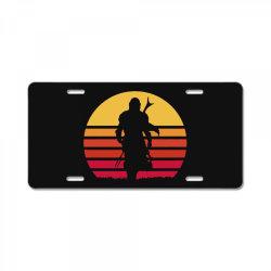 mando retro License Plate   Artistshot
