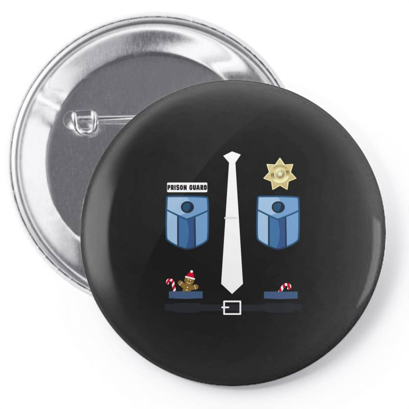 Prison Guard Correctional Officer Funny Christmas Costume Pin-back Button | Artistshot