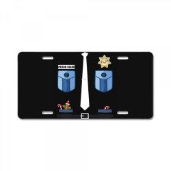 prison guard correctional officer funny christmas costume License Plate | Artistshot