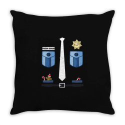 prison guard correctional officer funny christmas costume Throw Pillow | Artistshot