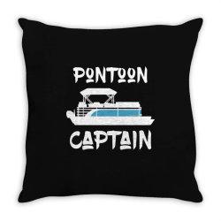 pontoon captain shirt pontoon boat lake sailing lover Throw Pillow   Artistshot