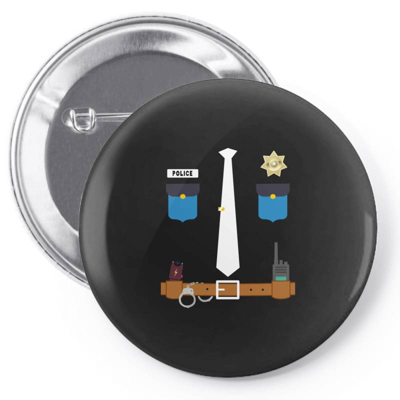 Policeman Funny Halloween Costume Police Officer Awesome Pin-back Button   Artistshot
