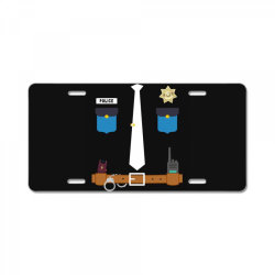 policeman funny halloween costume police officer awesome License Plate   Artistshot