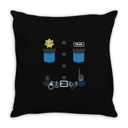 policeman kids halloween costume police officer awesome Throw Pillow | Artistshot