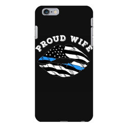 police officer wife thin blue line retro usa flag lips iPhone 6 Plus/6s Plus Case | Artistshot