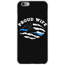 police officer wife thin blue line retro usa flag lips iPhone 6/6s Case | Artistshot