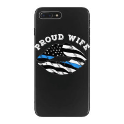 police officer wife thin blue line retro usa flag lips iPhone 7 Plus Case | Artistshot