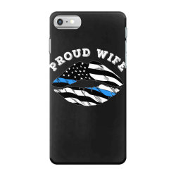 police officer wife thin blue line retro usa flag lips iPhone 7 Case | Artistshot