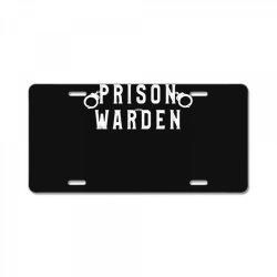 prison warden correctional prison officer halloween costume License Plate | Artistshot