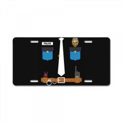prison officer funny halloween prison guard costume License Plate   Artistshot
