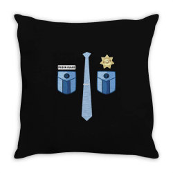prison guard correctional officer funny costume Throw Pillow | Artistshot