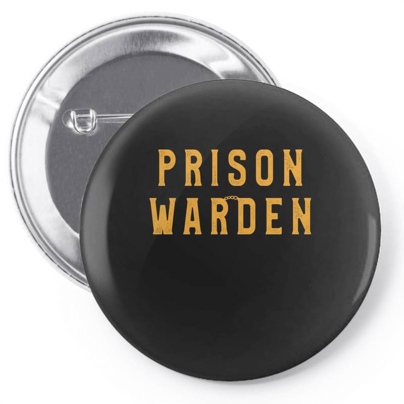 Prison Warden Tee Halloween Funny Costume Awesome Pin-back Button | Artistshot