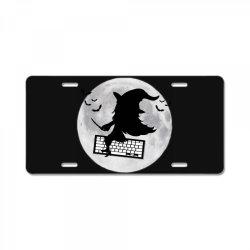 programmer halloween costume coding lover coder License Plate | Artistshot