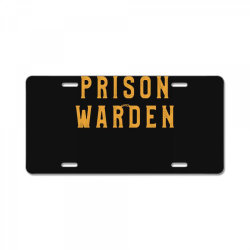 prison warden tee halloween funny costume awesome License Plate | Artistshot