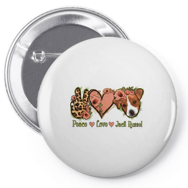 Peace Love Jack Russel Pin-back Button | Artistshot