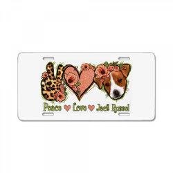 Peace Love Jack Russel License Plate | Artistshot