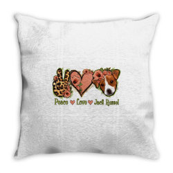 Peace Love Jack Russel Throw Pillow | Artistshot
