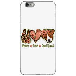 Peace Love Jack Russel iPhone 6/6s Case | Artistshot