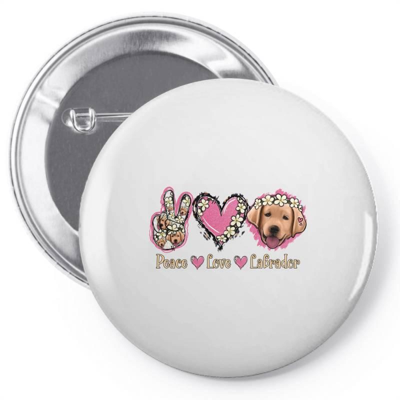 Peace Love Labrador Pin-back Button | Artistshot