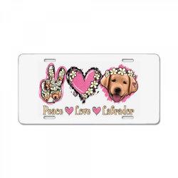 Peace Love Labrador License Plate | Artistshot